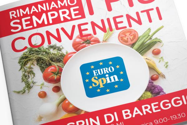 Creatività e impaginazione grafica volantini flyers Eurospin | alexiamasi.com