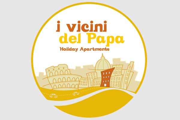 Progettazione logo marchio Vicini del Papa | alexiamasi.com
